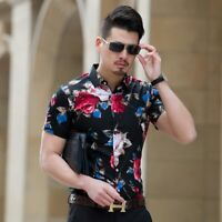 Camisa para hombre Slim Fit Manga corta Camisa casual Moda casual hombre Ropa