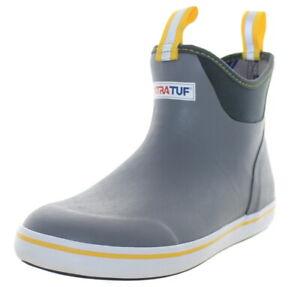 Xtratuf Men's Ankle Deck Waterproof Boots Gray/Yellow