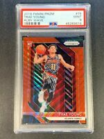TRAE YOUNG 2018 PANINI PRIZM #78 RUBY WAVE REFRACTOR ROOKIE RC PSA 9 (B)