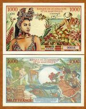 Guadeloupe Martinique, 1000 Francs, 2020, Private Issue Fantasy