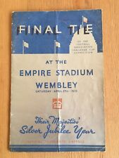 1935 Fa Cup Final Programme Sheffield Wednesday v West Bromwich Albion Original