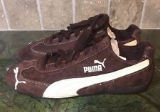 New PUMA SPEEDCAT BROWN SUEDE CREAM LEATHER WOMENS Size 9 Shoes Lace Up SNEAKERS