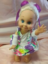 """VTG 1990 GALOOB BABY FACE DOLL #1 """"SO SWEET SANDI"""" ADORABLE! VERY GOOD CONDITION"""