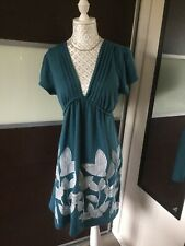 Ladies Teal Long Top Size 12 Culture
