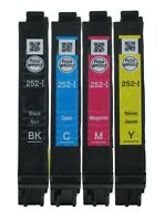 GENUINE Epson 252 252-I Ink Cartridge 4PK for Workforce WF-7210 WF-7610 WF-7620
