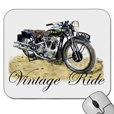 VINTAGE 1935  BSA  V TWIN  MOTOR BIKE   MOUSE PAD  MOUSE MAT