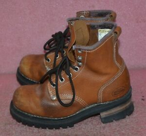 Vintage Sketchers Leather Boots Size Youth 4.