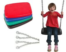 XXL Heavy Duty Flat Swing Seat/Chain Playground Swing Set Backyard Rubber Solid