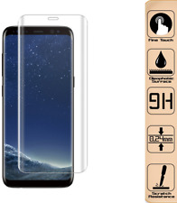 2x 3D Display Schutzglas für Samsung Galaxy S8 Curved Transparent 9H Glasfolie