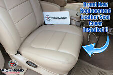 2001 F250 Lariat Crew -PASSENGER Side Bottom Replacement Leather Seat Cover TAN