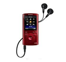 Sony NWZE383 4GB Walkman MP3 Video Music Digital Media Player NWZ-E383 Black~Red