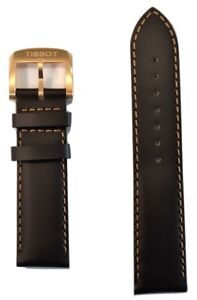 Original Tissot Quickster T095417A T095410A Brown Leather 19mm Watch Band Strap
