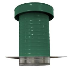 9 inch diameter Aluminum Keepa Roof Jack Vent Cap with Tail Pipe in Green