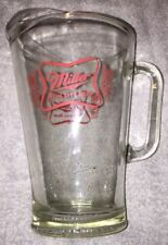Miller High Life Glass Beer Pitcher - Thick & Heavy