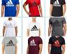 Adidas Men Badge of Sport Short Sleeve Essential Logo Graphic Crew Neck T Shirt