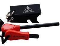 DEMARPA 2Set Feuerstarter: Magnesiumblock mit Feuerstein und Feuerstahl XL Fire
