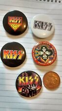 KISS BADGES X 5 OFFICIAL AND BRAND NEW