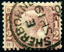 GB QV 1/2d Rose 1870  SG49  SC58  pl10. half penny. Perf 14. CDS with Sherborne