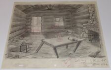 TEX AVERY DROOPY'S GOOD DEED 1951 ORIGINAL PRODUCTION CEL LAYOUT DRAWING