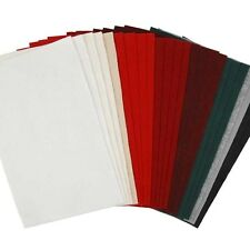 Craft Felt Pack - 24 Sheets - Red Green White Grey - Christmas Decorations Craft