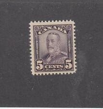 CANADA (MK2818) # 153 VF-MNH  5cts 1928 KING GEORGE V SCROLL /DEEP VIOLET CV $50