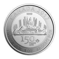 2017 Canada Voyageur Special Edition 1 oz Silver $5 Celebrating 150th SKU49098
