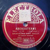"""Barnabas von Geczy - Abendsterne - Electrola - /10"""" 78 RPM"""