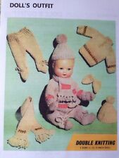 Knitting Pattern for 11, 13, 15 IN (environ 38.10 cm) BABY DOLLS TENUE en DK voir détails