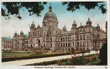 Parliament Buildings VICTORIA BC Canada 1930s Coast Publishing Co. RPPC 13