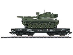 3x Märklin Schwerlastwagen Rlmmp m.M48 D  - OVP 48796 / 48798 / 48799