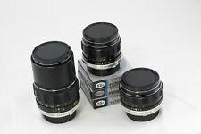Lot 3 Minolta MC Rokkor Lens 35 2.8 58 1.4 135 2.8 adapt to Mirrorless SONY Fuji