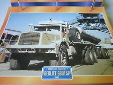 Super Trucks Baustellen LKW Frankreich Berliet GB015P, 1957