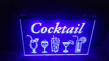 Cocktail Drink Restaurant Led neon light sign Plate Flag Bar Club Pub Sport