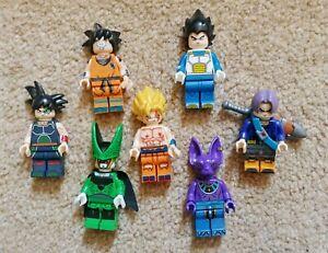 Dragon Ball Z Lego brick mini figures. GOKU VEGETA TRUNKS BEERUS CELL FRIEZA
