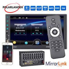 "7"" 2Din HD Car Radio Bluetooth MP5 Player Stereo USB/AUX/FM/SD/SWC Enlace espejo"