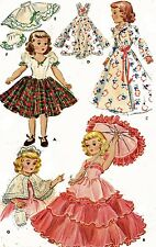 Vintage Doll Clothes PATTERN 1891 for 14 in Mary Hoyer Gigi Royal doll Company
