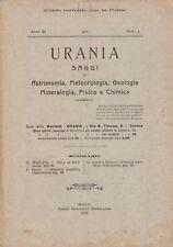 Urania, rivista, 1922, anno XI n. 4, astronomia, mineralogia, chimica, fisica