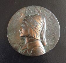 antike Bronze Plakette Dante