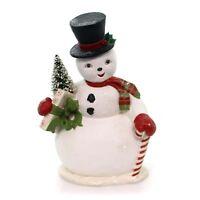 Bethany Lowe Large Snowman Sam Tree Figurine Retro Vintage Style Christmas Decor