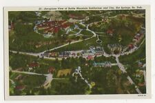 USA, Aeroplane View of Battle Mountain Sanitarium Hot Springs Dak Postcard, B232
