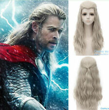 Marvel's The Avengers Thor  Long Linen Blonde Cosplay Wig Hair