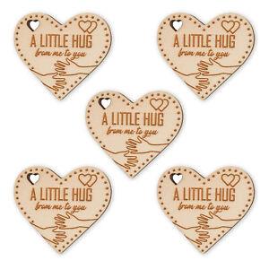 5x Pocket Hug Token Isolation Gift Engraved Heart For Loved Ones Grandad Mum Dad