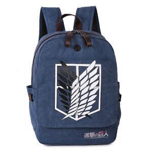 Anime Attack on Titans Boys Girls Student School Backpack Rucksack Travel Bag