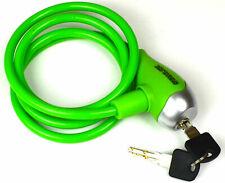 """""""Stahlex"""" Fahrradschloss mit Schlüssel  grün Kabelschloss"""