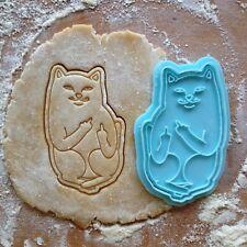Lord Nermal cookie cutter. Lord Nermal cat cookie stamp. Animal cookies