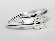 925 silver memory arrow dainty adjustable ring jewellery ladies  present gift