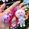 Super Cute Rabbit Bag Charm/Keychain with Bell [3 inch tall]