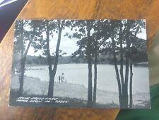 Nine Eagles Lake near Leon Iowa RPPC Real Photo Postcard  Posted 1950's