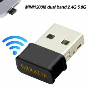 1200Mbps USB WiFi Adapter 2.4G/5G Dual Band Wireless WLAN Stick Dongle für PC R