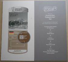 2016 Formel 1 Paddock Club Hockenheim App Panel no book brochure prospekt press